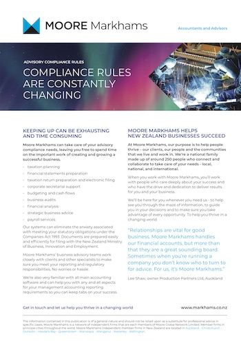 Compliance rules publication